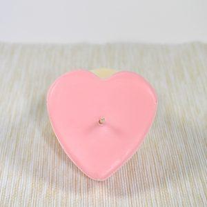 Coeur Rose Carrée