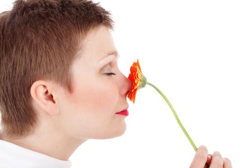 Femme parfum fleur