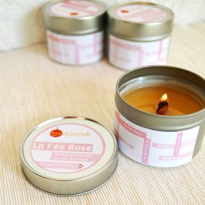 Bougie-parfumee-naturelle-melon-peche-rose