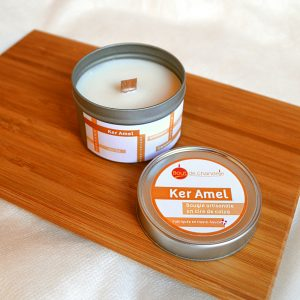 Ker Amel 1 - Bougie cire vegetale parfum caramel beurre salé