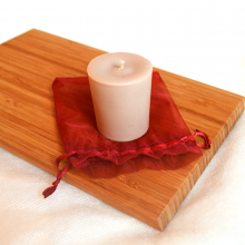 Bougie votive parfum caramel au beurre salé