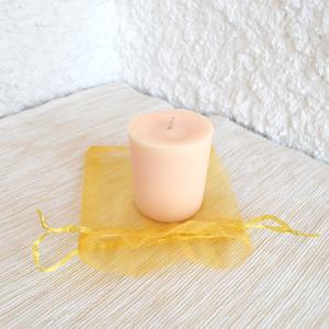 Bougie naturelle votive parfum calisson