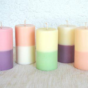 Bougies bicolores 2